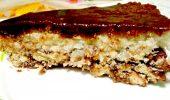 Кокосова торта с шоколад и бисквити