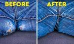 Ето как да заличите такава дупка на дънките си, така че изобщо да не личи че я е имало!