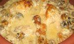 Пиле жулиен с гъби в гювече