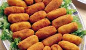 Пържени крокети с картофи и сирене