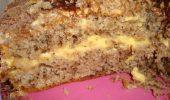 Орехова торта с жълтъчен крем